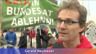Kein TTIP, kein Windpark, mehr Gymnasium - Kundgebung beim Landesparteitag der Grünen in Reutlingen