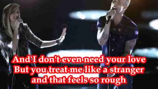Christina Grimmie & Adam Levine - The Voice - Somebody That I Used To Know (Lyrics)