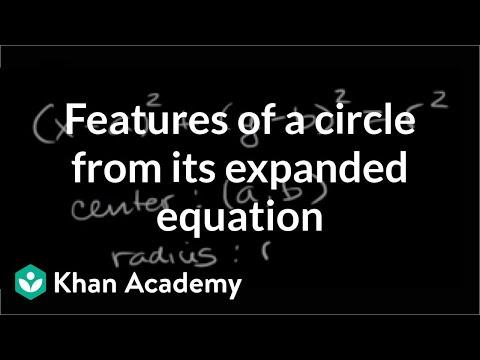 Features Of A Circle From Its Expanded Equation Analytic Geometry