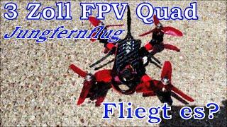 How To - Wir bauen einen 3 Zoll FPV-Quadcopter - Folge 2: Jungfernflug - Wird er fliegen?