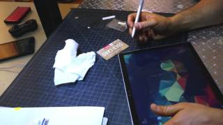 Surface Book Photodon screen protector review and give away. iPad pro Screen protector give away.