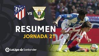 Resumen de Atlético de Madrid vs CD Leganés (0-0)