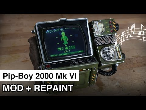 Pip-Boy 2000 Mod + Repaint | Fallout 76 | Speaker and LEDs
