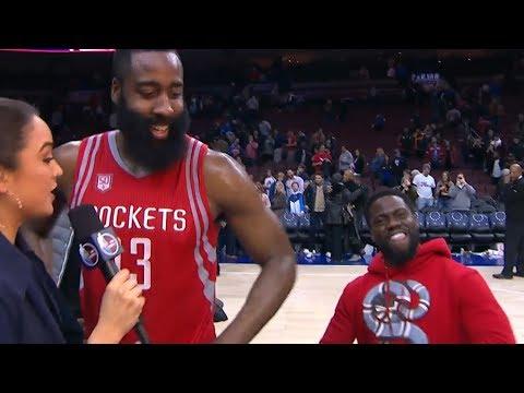 Kevin Hart Trolling NBA Players (видео)