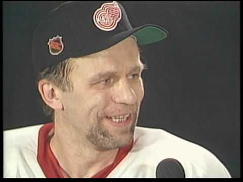 Vyacheslav (Slava) Fetisov gets interviewed by Ray Lane