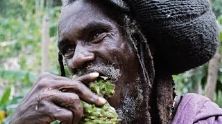 Rastafarian encounter in the Canaan Mountains, Jamaica