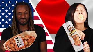 American & Japanese People Swap Snacks