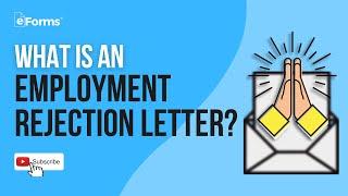 Employment Job Rejection Letter - EXPLAINED