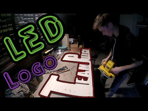How to make a LED wooden logo - TeamPitch