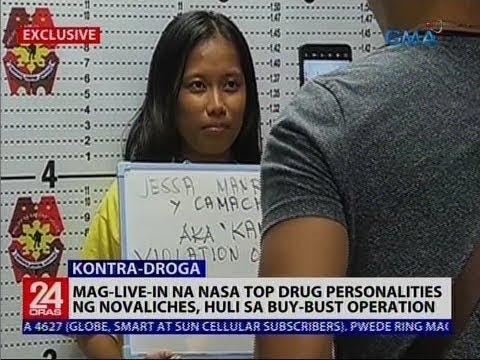[GMA]  24 Oras: Mag-live-in na nasa top drug personalities ng Novaliches, huli sa buy-bust operation