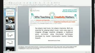 Why Teaching Creativity Matters