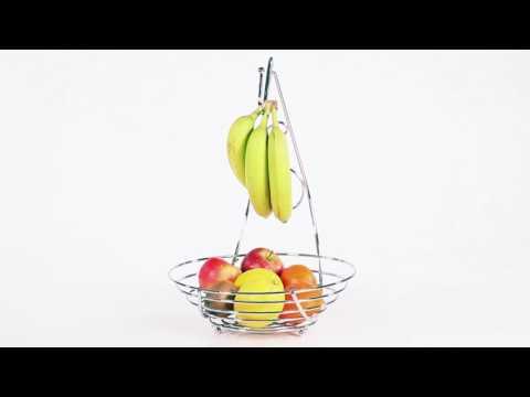 Obstschale mit Bananenhalter