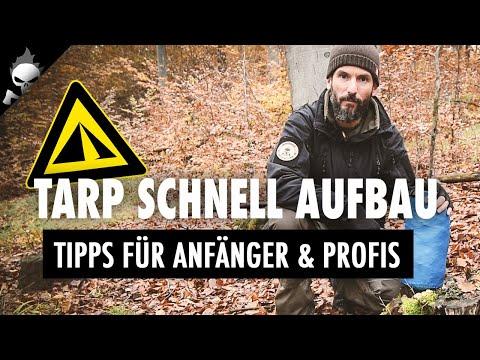TARP AUFBAU – Schnellaufbau-System für Tarp (Zeltplane) bei Regen für Bushcraft, Trekking, Survival