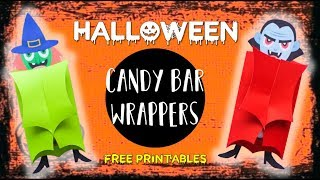 Halloween Candy Bar Wrappers - DIY For Halloween 🎃  | Ohpartyland! 🎊|