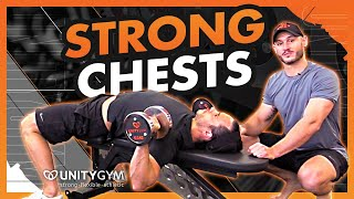 Strengthen Your Chest | Weightlifting Exercise | Flat Pronated Grip Dumbbell Chest Press TUTORIAL