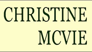 Christine McVie - Got A Hold On Me (Remix) Hq