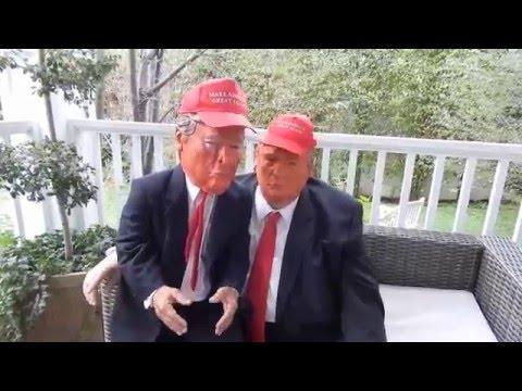 Donald Trump and Mini Trump With The GetDismissed Man