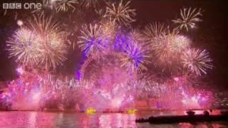 Nieuwjaarskaarten, Groot vuurwerk in London voor het nieuwe jaar