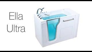 Ella Ultra Acrylic Walk In Bathtub Video