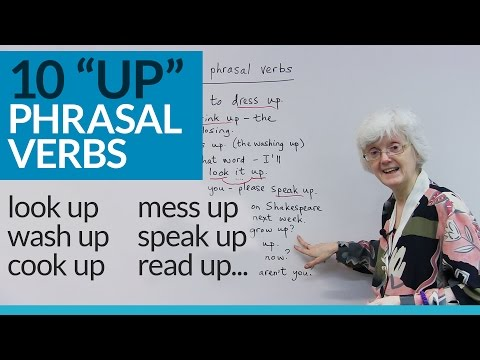 """10 PHRASAL VERBS with """"UP"""": dress up, wash up, grow up..."""