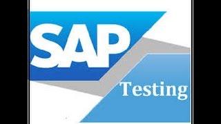 sap testing Training video   SAP Testing Online Training course - GOT