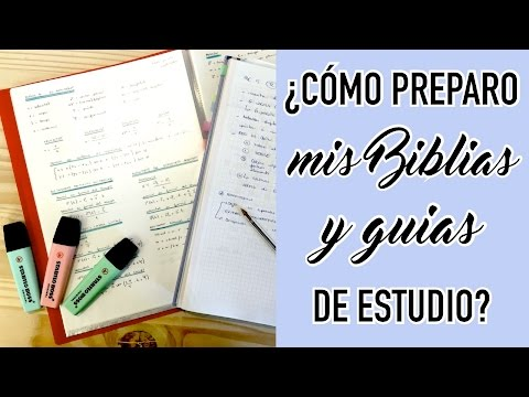 MIS BIBLIAS / GUÍAS DE ESTUDIO: ¿Cómo las preparo? + TOUR | Christine Hug