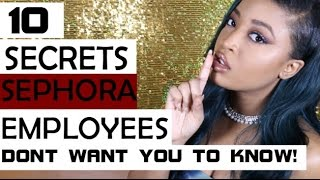 10 Secrets Sephora Employees Dont Want You To Know - Video Youtube