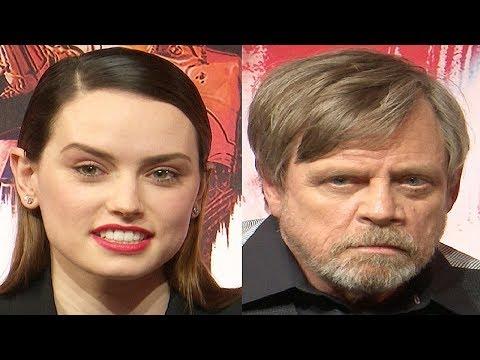 Daisy Ridley & Mark Hamill Interview Star Wars The Last Jedi Premiere