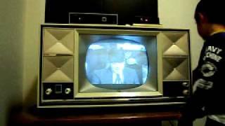 真空管テレビに地デジ接続1962年松下電器製