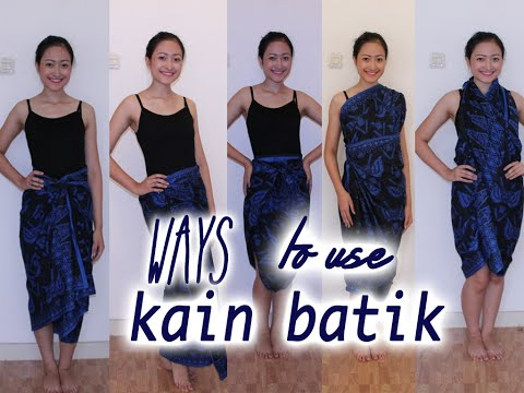 Video Ways to use kain batik!