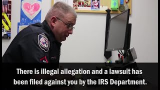 Police Officer Scams IRS Scammer In Viral Video
