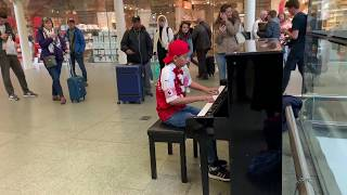 Crowd Demands Encore As Man Misses Train in Queen Bohemian Rhapsody Piano Epic Cole Lam 12 Years