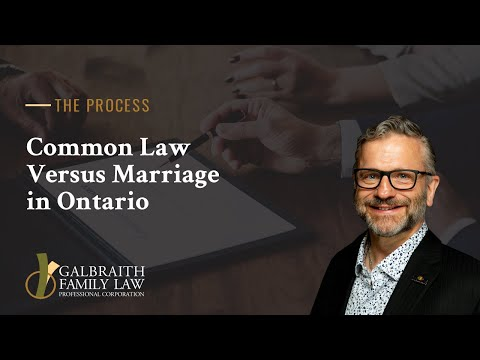 Common Law Versus Marriage in Ontario