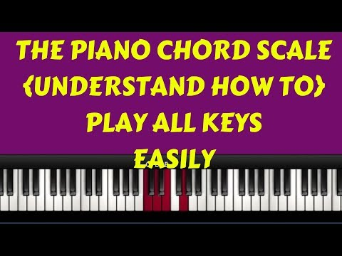 The Piano Chord Scale( Number System) The Key To Mastering All Keys