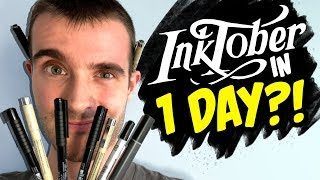 Attempting Every INKTOBER 2019 Prompt in 1 DAY