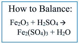 How To Balance Fe2O3 + H2SO4  = Fe2(SO4)3 + H2O