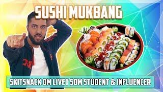 Sushi Mukbang + Skitsnack om ALLT