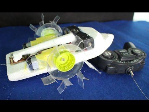 Come fare una barca ruota a pale | barca di telecomando