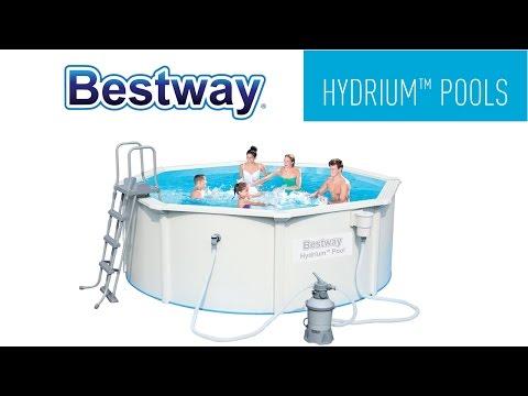Bestway Round Hydrium™ Steel Wall Pools Setup Video