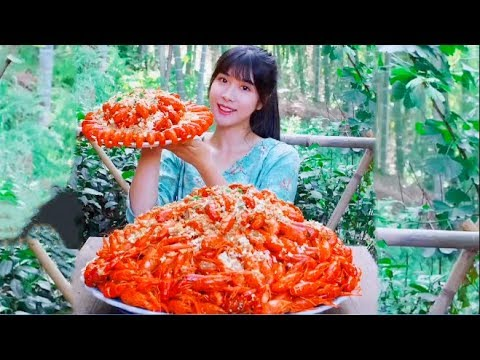 Rural Big Stomach King Challenges 50 Kinds of Lobster
