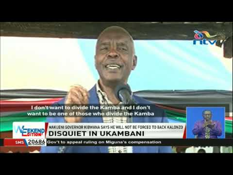 Makueni Governor Kibwana says he will not be forced to back Kalonzo