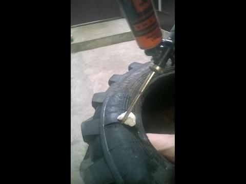 Как быстро и качественно заделать боковой порез шин