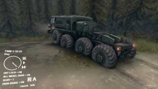 SpinTires - 2013 Tech Demo - Extreme Offroad - MAZ 535 8x8 Truck #3