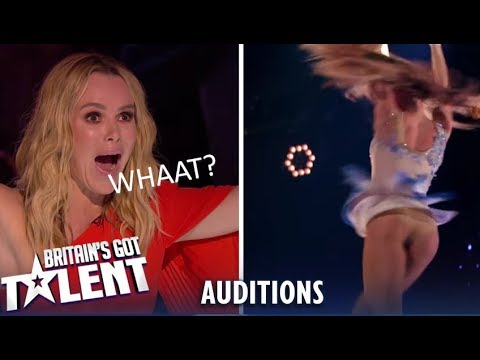 Talent Acrobatic Couple Blows Away Judges on BGT