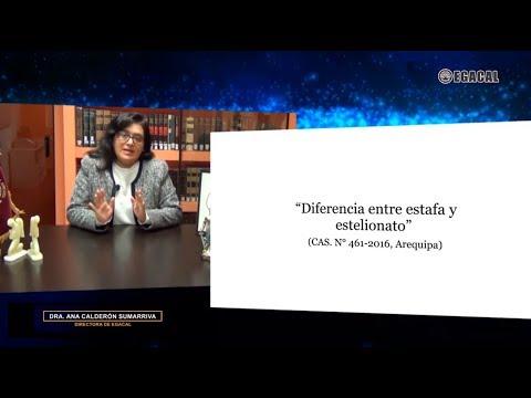 DIFERENCIA ENTRE ESTAFA Y ESTELIONATO - Luces Cámara Derecho 128