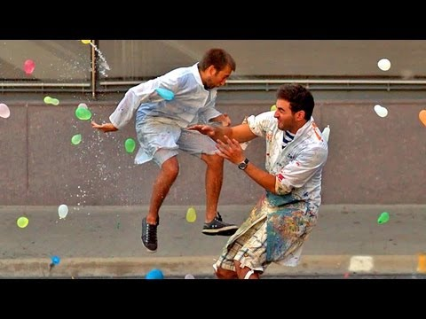 Slow Motion Water Balloon War With 1500 People