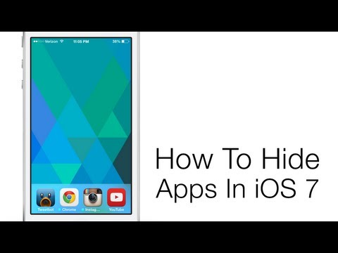 Hide Apps In iOS 7 With This Trick
