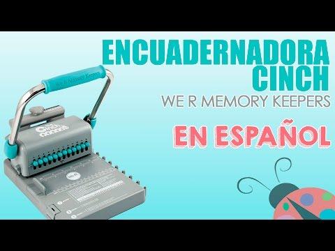 Encuadernadora Cinch - Como se usa en Español.