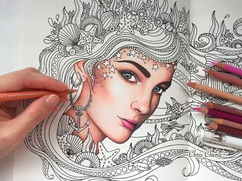 How i colored skin daydreams coloring book prismacolor premier ...