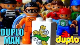 Kids movie Duplo Toys Duplo Man saves the day in the Duplo Theme Park a Kids stop motion movie toys